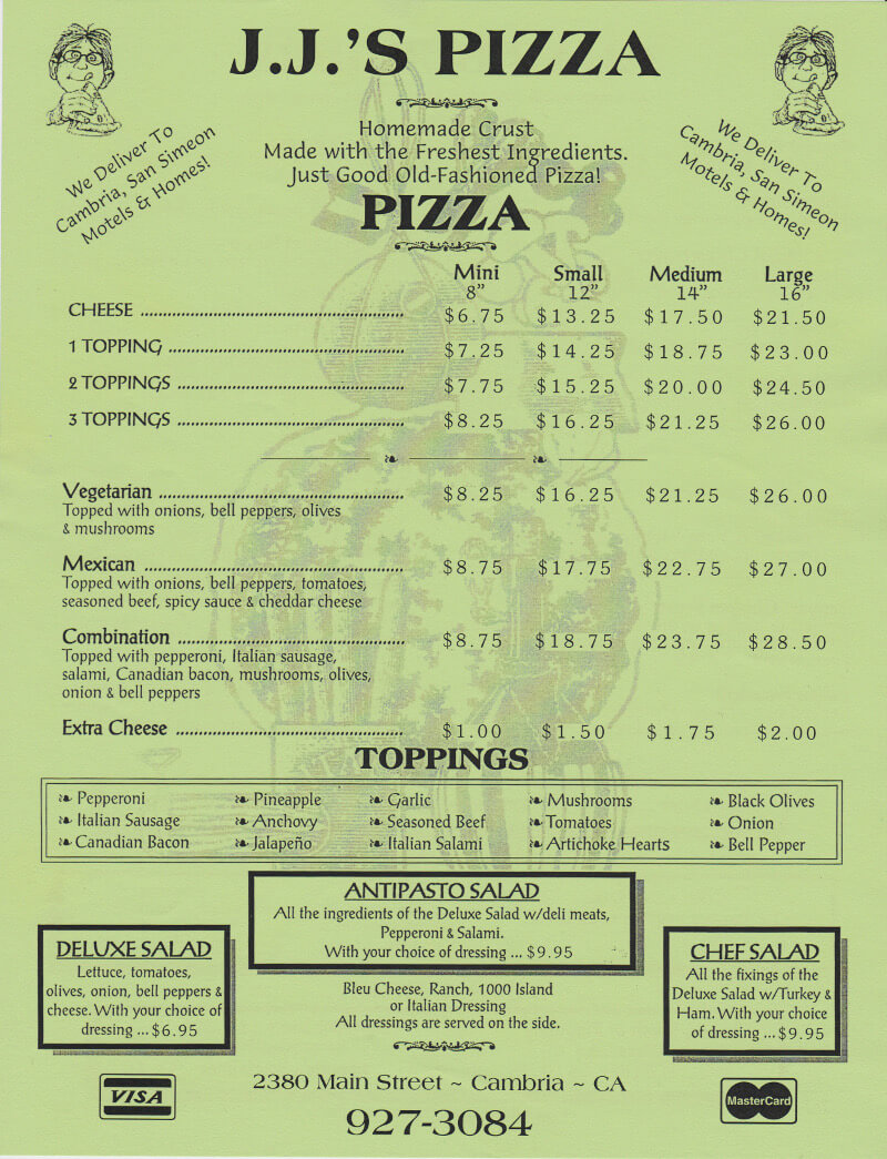 Menu - Pizza